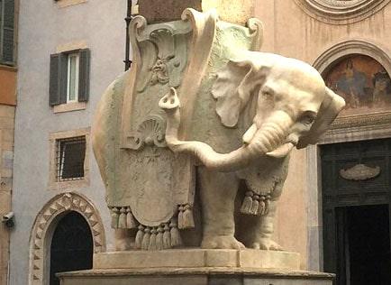 Olifantje van Bernini in Rome.