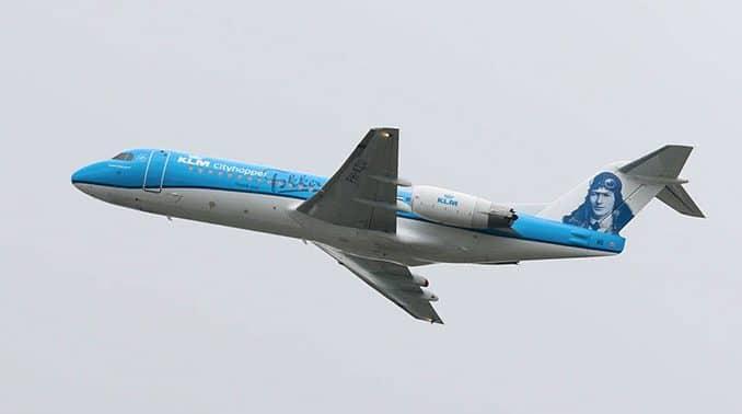 Vliegtuig naar Rome