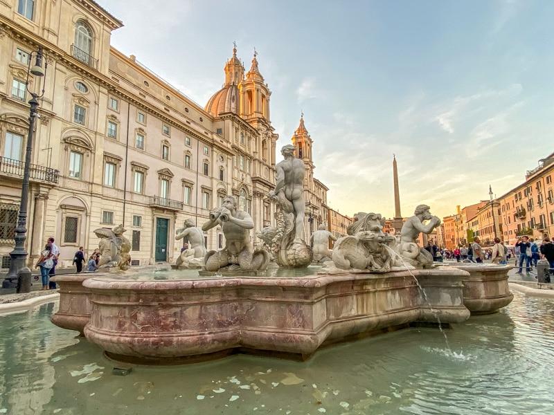 Fontein op Piazza Navona