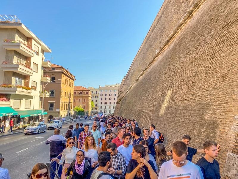Wachtrij voor Vaticaanstad